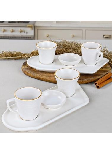 Keramika Keramika Gold Line Kahve Sunum Seti 8 Parça 2 Kişilik Renkli